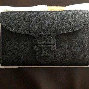Tory Burch Black Leather Wallet
